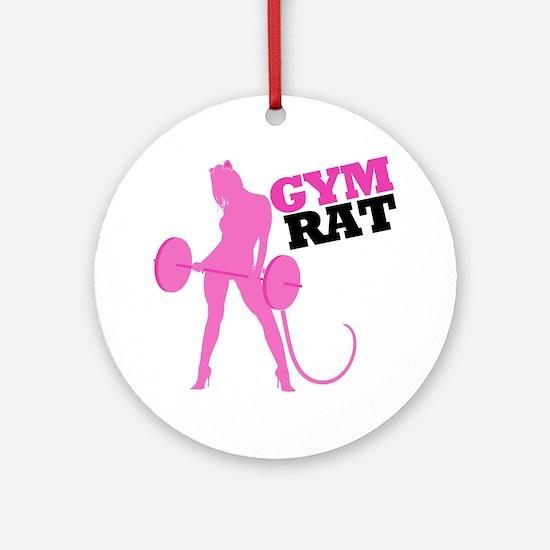 gym-rat Round Ornament