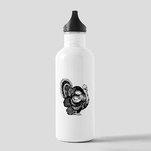 Turkey Sketch Sports Water Bottle