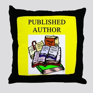 geek published author gifts t-shirts Throw Pillow
