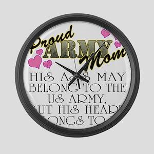 proud mom_1 Large Wall Clock