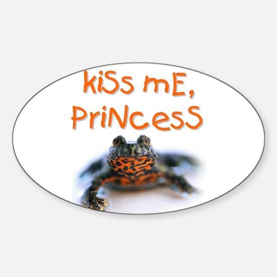 Kiss Me, Princess (A) Oval Decal