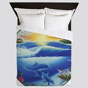 3-dolphans-copy Queen Duvet