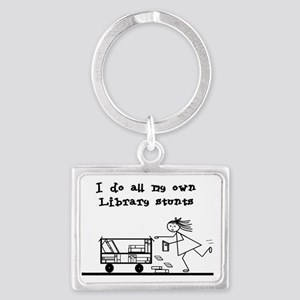 library stunts Landscape Keychain