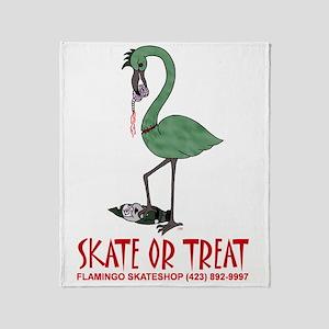 zombie flamingo shirt Throw Blanket