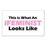 iFeminist Rectangle Sticker