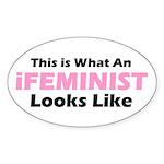 iFeminist Oval Sticker