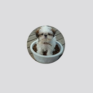 Shih Tzu Puppy in Bowl Mini Button