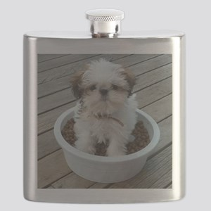 Shih Tzu Puppy in Bowl Flask