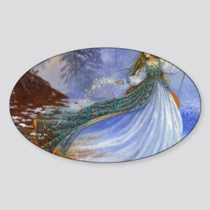 Spring Fairy Sticker (Oval)
