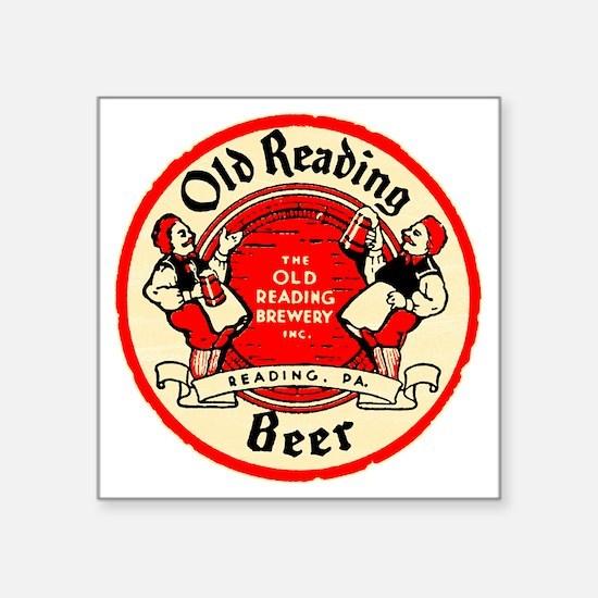 """oldreadingbeer Square Sticker 3"""" x 3"""""""