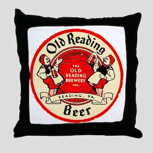 oldreadingbeer Throw Pillow
