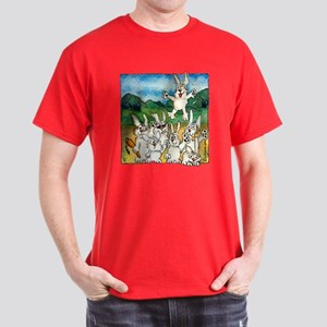 Bunny Rabbits Jump Dark T-Shirt