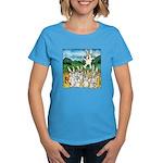 Bunny Rabbits Jump Women's Dark T-Shirt