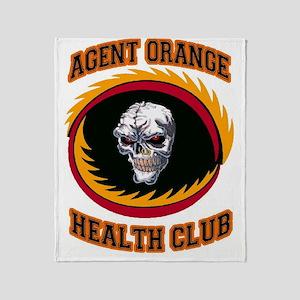AGENT ORANGE HEALTH CLUB Throw Blanket