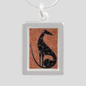 Autumn Silver Portrait Necklace