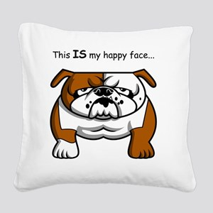 SS_This-IS-my-happy-fa... Square Canvas Pillow
