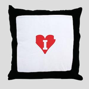 IHeartVancouverWhite Throw Pillow
