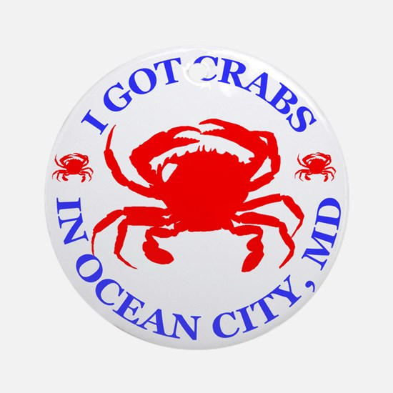 OC_CRABS Round Ornament