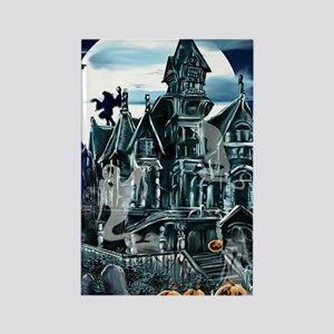 Haunted House PosterP Rectangle Magnet