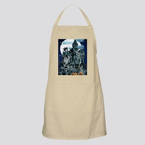 Haunted House PosterP Apron