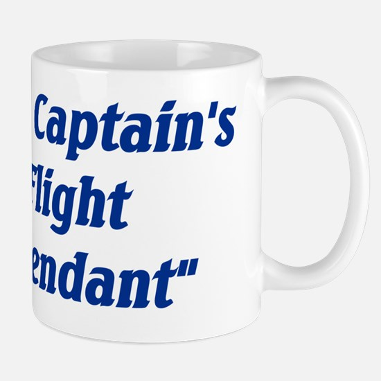 the captains flight attendant Mug