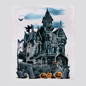 Haunted House Trans Throw Blanket