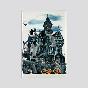 Haunted House Trans Rectangle Magnet