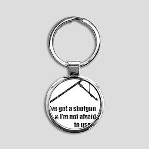 got-a-shotgun-distressed Round Keychain