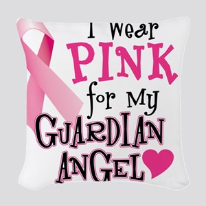 I Wear Pink for My Guardian An Woven Throw Pillow