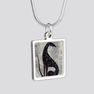 Sable Silver Square Necklace