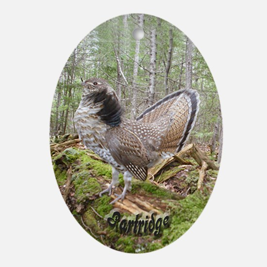 Grouse Oval Ornament