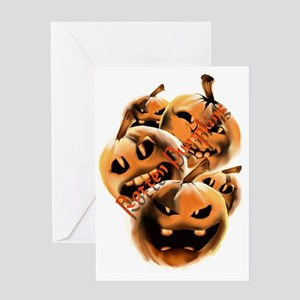 Rotten Pumpkins letteredTrans Greeting Card