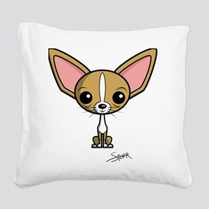 SS_Chihuahua-by-Silver Square Canvas Pillow