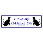 Siamese Cats Bumper Sticker