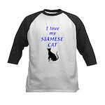 Siamese Cats Kids Baseball Jersey