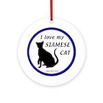 Siamese Cats Ornament (Round)