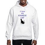 Siamese Cats Hooded Sweatshirt