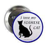 Siamese Cats Button
