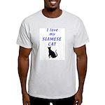 Siamese Cats Ash Grey T-Shirt