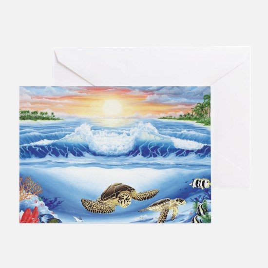 turtles world large Greeting Card