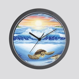 turtles world large Wall Clock