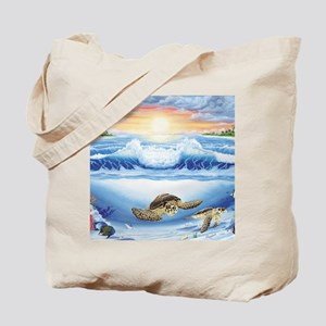 turtles world large Tote Bag