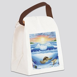 turtles world large Canvas Lunch Bag
