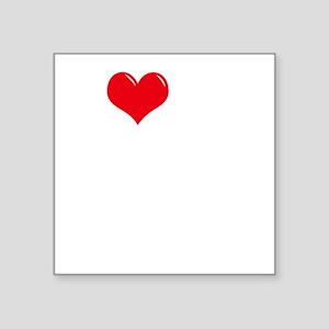 "4-I-Love-My-Chihuahua-dark Square Sticker 3"" x 3"""