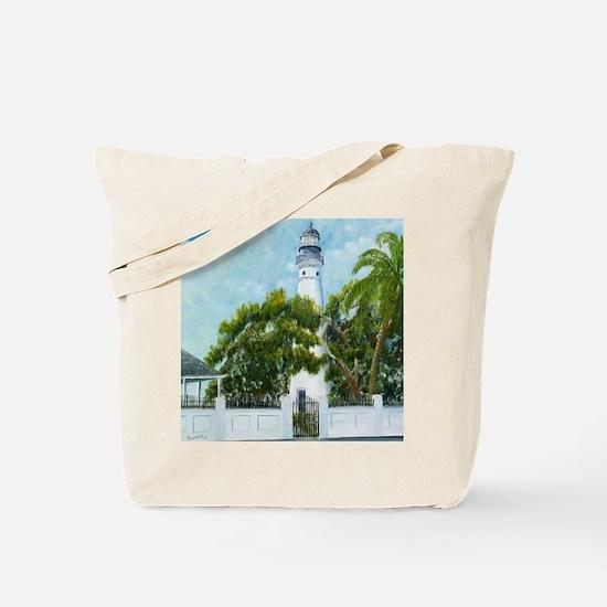 Key West Light square copy Tote Bag
