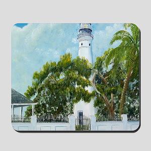 Key West Light square copy Mousepad