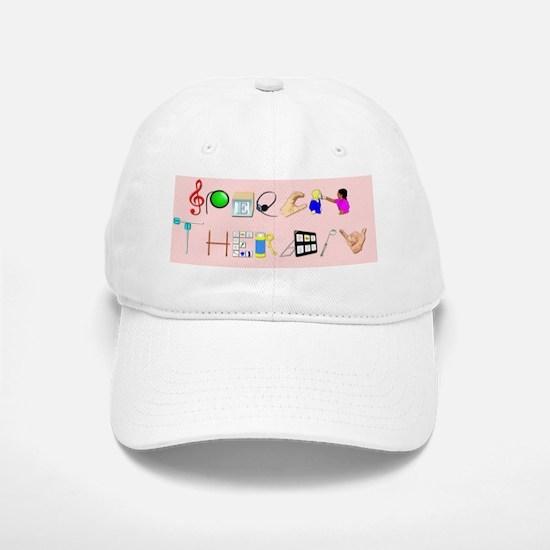 st pink rect Baseball Baseball Cap