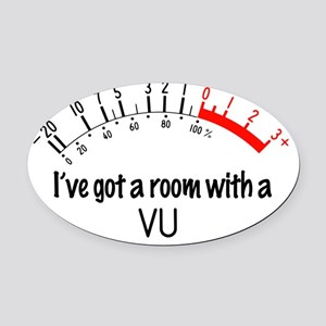3-room-with-a-VU Oval Car Magnet