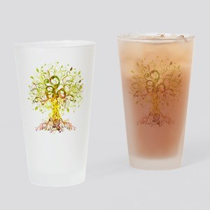 Tree Art Drinking Glass