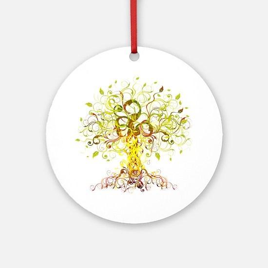 Tree Art Round Ornament